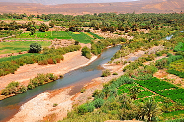 Landscape of the Draa Valley, south of Ouarzazate and Agdz in the south of Morocco, North Africa, Africa