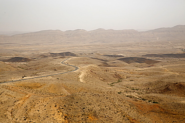 The Makhtesh Ramon crater, Negev, Israel, Middle East