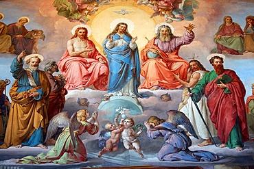 Virgin Mary, Jesus and God, Vatican Museum, Vatican, Rome, Lazio, Italy, Europe