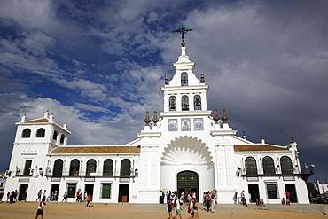 El Rocio church, Hermitage of the Virgin of El Rocio, Andalucia, Spain, Europe