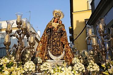 Catholic procession in El Puerto de Santa Maria, Andalucia, Spain, Europe