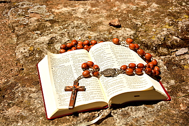 Bible and rosary, Herault, Languedoc, France, Europe