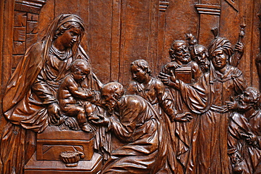 The Presentation of Jesus at the Temple, Karlskirche (St. Charles's Church), Vienna, Austria, Europe