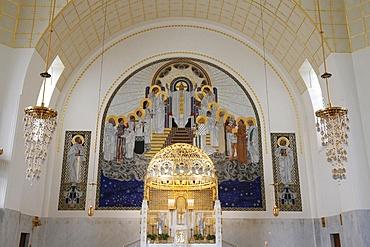 Choir, Am Steinhof church (Church Leopold) designed by Otto Wagner, Vienna, Austria, Europe