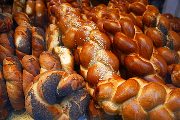 Bagels in a Jewish bakery, Paris, France, Europe