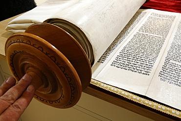 Torah scroll, Paris, France, Europe