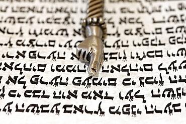 Torah scroll and Yad, Torah pointer, Paris, France, Europe