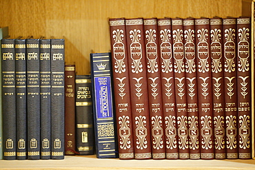Liturgical books in a Synagogue, Paris, France, Europe