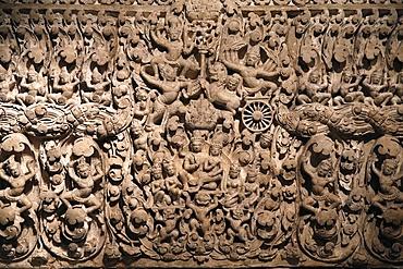 Vishnu from Angkor Wat western entrance central Gate. Eastern lintel, Musee Guimet, Museum of Asian Arts, Paris, France, Europe