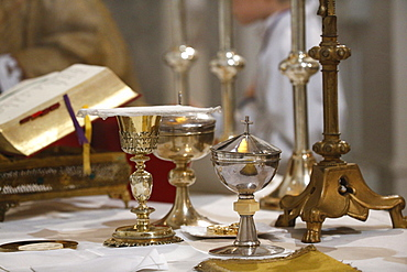 Chalice and ciborium, Villemomble, Seine-Saint-Denis, France, Europe