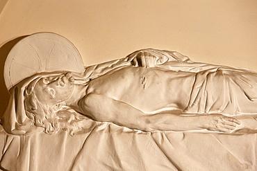 Death of Christ, St. John the Baptist's church in Arras, Pas-de-Calais, France, Europe