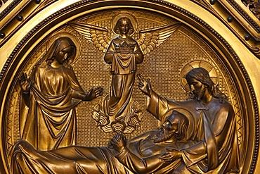 St. Joseph's death, St. Joseph's Chapel, Notre Dame de la Treille Cathedral, Lille, Nord, France, Europe