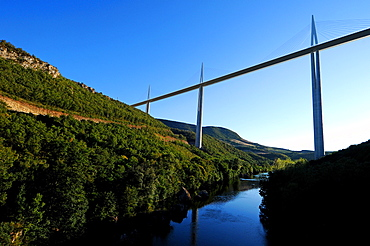Millau Viaduct in southern France, Aveyron, France, Europe