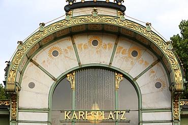Karlsplatz Metro Station by Otto Wagner, Vienna, Austria, Europe