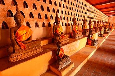 Buddha statues in Wat Sisaket, Vientiane, Laos, Indochina, Southeast Asia, Asia