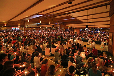 Taize Community, Church of the Reconciliation, Saturday evening prayers, Taize, Saone-et-Loire, Burgundy, France, Europe