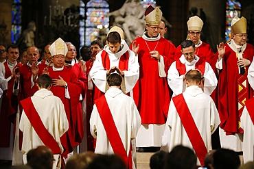Priest ordinations in Notre-Dame de Paris Cathedral, Paris, France, Europe
