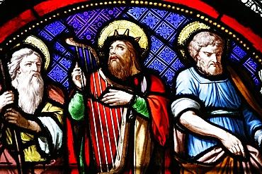 Abraham, David and Joseph, Sainte-Clotilde church, Paris, France, Europe
