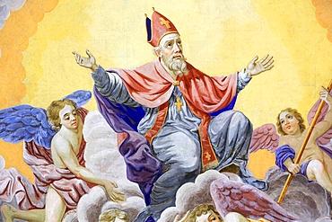 St. Nicolas ascends to heaven, Bishop of Myra, St. Nicolas de Veroce, Rhone-Alpes, France, Europe