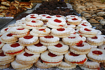 Ramadan cakes and pastries, Jerusalem, Israel, Middle East