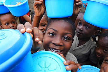 Meal distribution, Primary School Adjalle, Togo, West Africa, Africa
