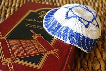 Torah and Kippah, Paris, France, Europe