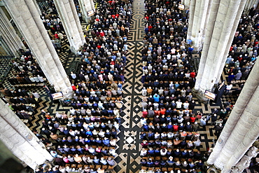 Believers Assembly, Episcopal ordination, Amiens Cathedral, Picardy, France, Europe