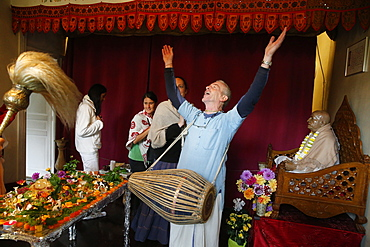 Goverdan puja celebration at ISKCON Paris, France, Europe
