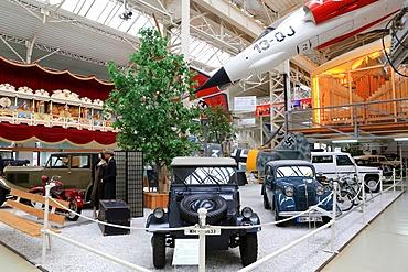 Old cars exhibit, Technik Museum Speyer, Rhineland Palatinate, Germany, Europe