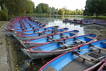 Row boats in Bois de Vincennes, Paris, France, Europe