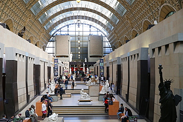 Great Hall of the Musee D'Orsay Art Gallery and Museum, Paris, France, Europe