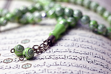 Quran and Tasbih (prayer beads), Haute-Savoie, France, Europe