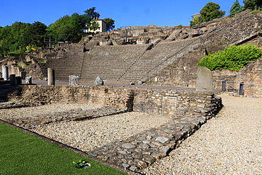 Ancient Theatre of Fourviere, Lyon, Rhone Valley, France, Europe