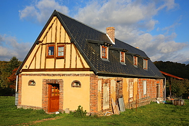 House under renovation, Le Souillard, Eure, Normandy, France, Europe