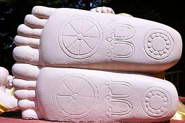 Reclining Buddha statue, Buddhist temple, Thien Minh Pagoda, Sainte-Foy-les-Lyon, Rhone area, France, Europe