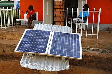 Solar panel shop, Masindi, Uganda, Africa