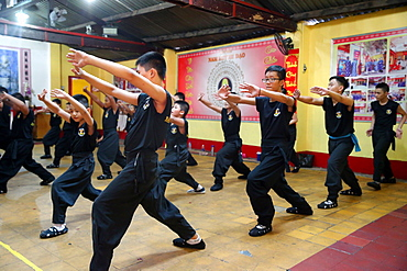 Boys practising martial arts, Ho Chi Minh City, Vietnam, Indochina, Southeast Asia, Asia