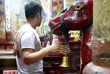 Sacred horse, Taoist temple, Jade Emperor pagoda (Chua Phuoc Hai), Ho Chi Minh City, Vietnam, Indochina, Southeast Asia, Asia