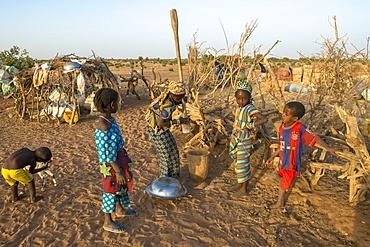 African village children, Tetiane Bade, Senegal, West Africa, Africa