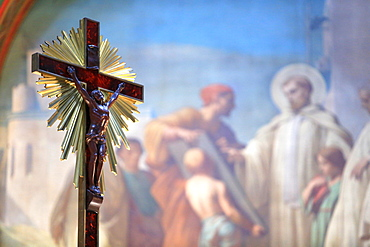 Jesus Christ on the Cross, Church St. Clodoald, Saint-Cloud, Ile-de-France, France, Europe