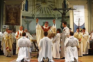 Deacon ordinations in Notre Dame du Travail Church, Paris, France, Europe