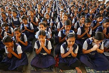 Sandipani Muni School for needy girls run by Food for Life, Vrindavan, Uttar Pradesh, India, Asia