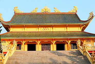 Main Hall, Dai Tong Lam Tu Buddhist Temple, Ba Ria, Vietnam, Indochina, Southeast Asia, Asia