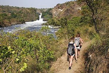Trek along Murchison Falls, Uganda, Africa