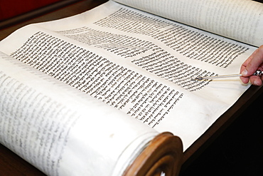 Torah scrolls and yad, Switzerland, Europe