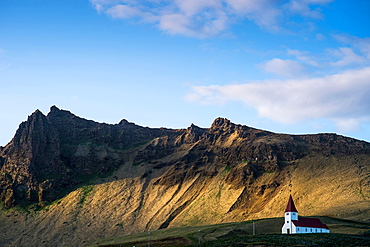 Landscape around Vik church, Iceland, Polar Regions