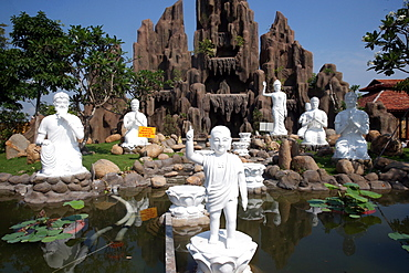 Statue of Prince Siddhartha Gautama, the Buddha, as a child, Chua Thien Lam Go Pagoda, Tay Ninh, Vietnam, Indochina, Southeast Asia, Asia