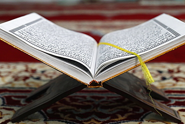Arabic Holy Quran (Koran), Jamiul Islamiyah Mosque, Ho Chi Minh City, Vietnam, Indochina, Southeast Asia, Asia