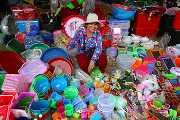 Market near Battambang, Cambodia, Indochina, Southeast Asia, Asia