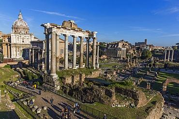 Saturn's Temple, Roman Forum, UNESCO World Heritage Site, Rome, Lazio, Italy, Europe